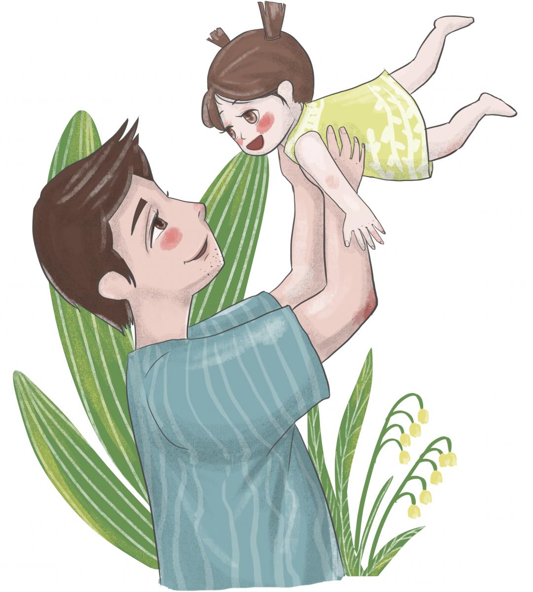 bố và con gái